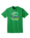 I Don't Have Kids - Cat Adult Dark T-Shirt