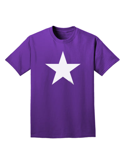 White Star Adult Dark T-Shirt - Purple - 4XL Tooloud
