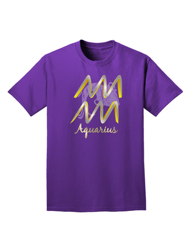 Aquarius Symbol Adult Dark T-Shirt