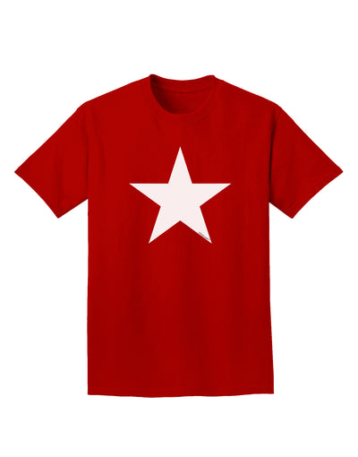 White Star Adult Dark T-Shirt - Red - 4XL Tooloud