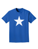 White Star Adult Dark T-Shirt - Royal Blue - 4XL Tooloud