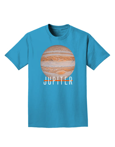 Planet Jupiter Earth Text Adult Dark T-Shirt
