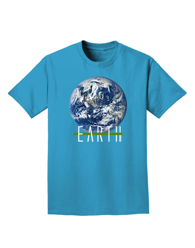 Planet Earth Text Adult Dark T-Shirt