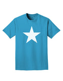 White Star Adult Dark T-Shirt - Turquoise - 4XL Tooloud