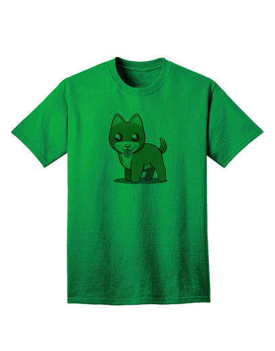Kawaii Standing Puppy Adult T-Shirt