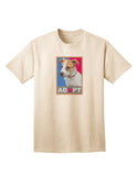 Adopt Cute Puppy Poster Adult T-Shirt