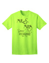 Personalized Mr and Mrs -Name- Established -Date- Design Adult T-Shirt