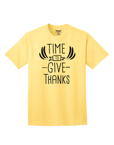 Time to Give Thanks Adult T-Shirt Yellow 4XL Tooloud