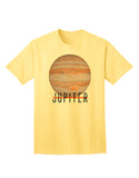Planet Jupiter Earth Text Adult T-Shirt
