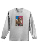 Adopt Cute Kitty Poster Adult Long Sleeve Shirt