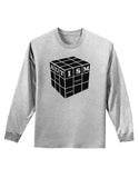 Autism Awareness - Cube B & W Adult Long Sleeve Shirt