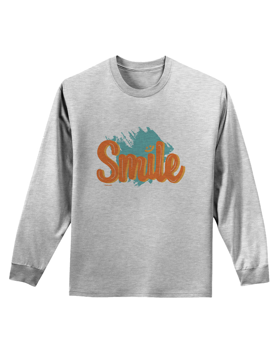 Smile Adult Long Sleeve Shirt White 4XL Tooloud