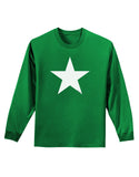 Black Star Adult Long Sleeve Dark T-Shirt