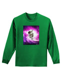 Astronaut Cat Adult Long Sleeve Dark T-Shirt