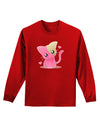 Kawaii Kitty Adult Long Sleeve Dark T-Shirt
