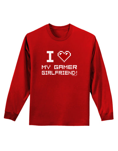 I Heart My Gamer Girlfriend Adult Long Sleeve Dark T-Shirt