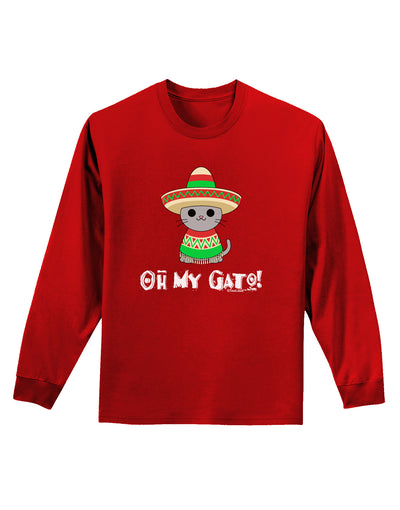 Oh My Gato - Cinco De Mayo Adult Long Sleeve Dark T-Shirt