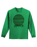 Planet Jupiter Earth Text Adult Long Sleeve Shirt