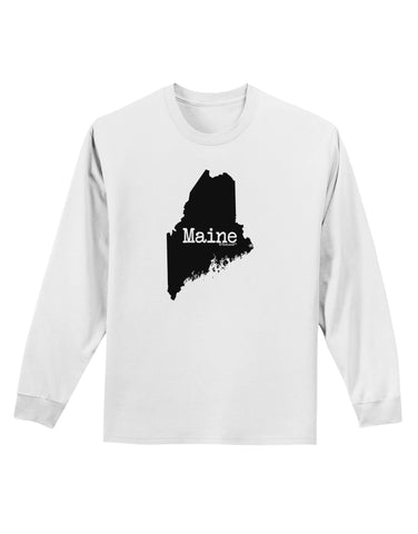 Maine - United States Shape Adult Long Sleeve Shirt by TooLoud