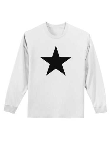 Black Star Adult Long Sleeve Shirt