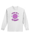 Cute As A Button Smiley Face Adult Long Sleeve Shirt