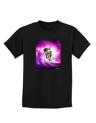 Astronaut Cat Childrens Dark T-Shirt