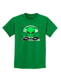 Alien DJ Childrens Dark T-Shirt