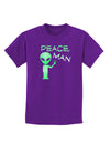 Peace Man Alien Childrens Dark T-Shirt