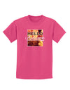 Hello Autumn Childrens Dark T-Shirt