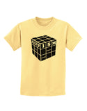 Autism Awareness - Cube B & W Childrens T-Shirt