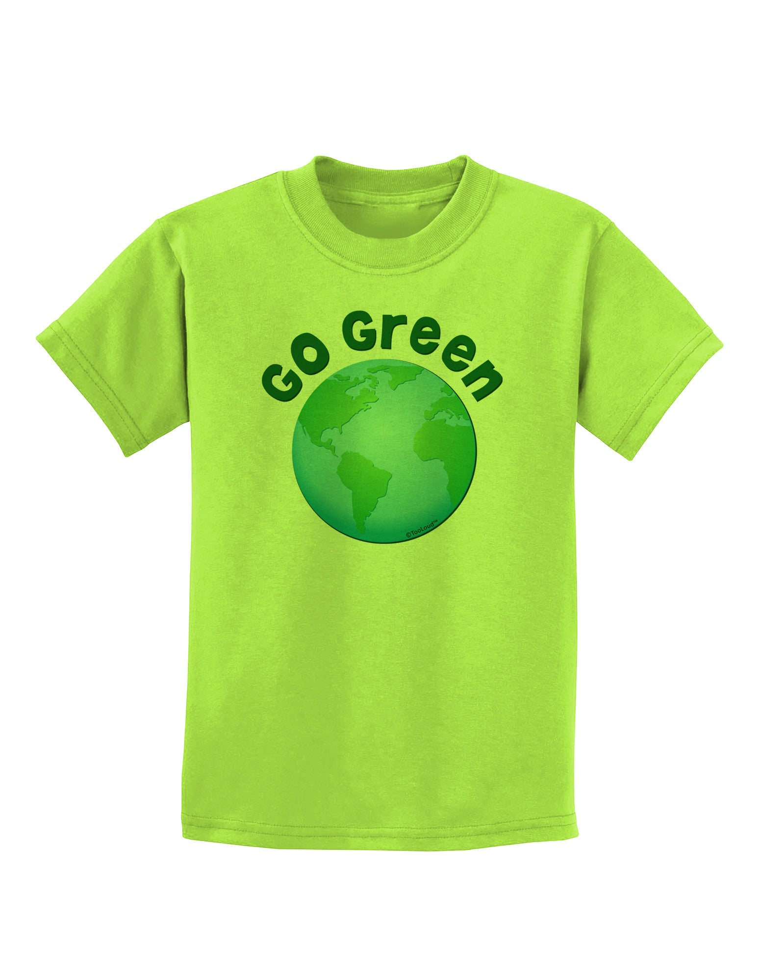 TooLoud Planet Earth Text Only Toddler T-Shirt