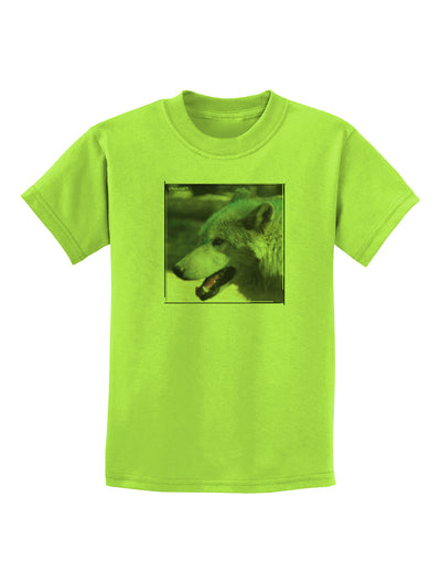 TooLoud White Wolf Face Childrens T-Shirt