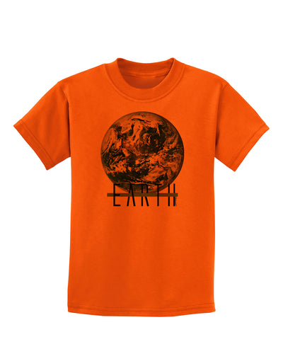 Planet Earth Text Childrens T-Shirt