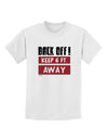 BACK OFF Keep 6 Feet Away Childrens T-Shirt White XL Tooloud