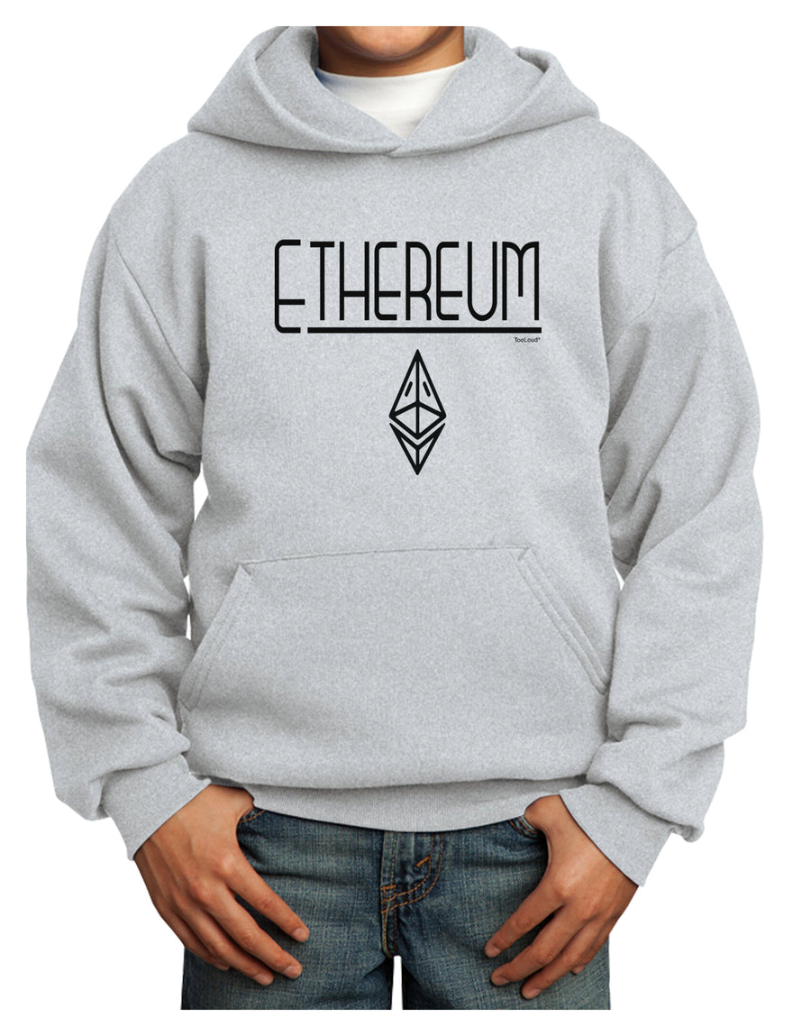 Ethereum with logo Youth Hoodie White Extra-Large Tooloud