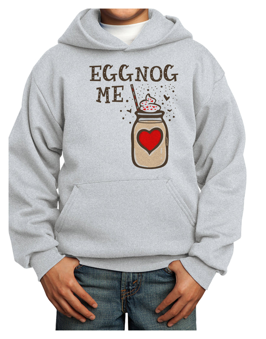 Eggnog Me Youth Hoodie White Extra-Large Tooloud
