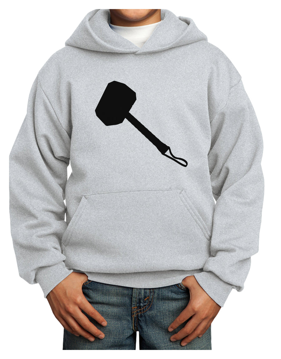 Thors Hammer Nordic Runes Lucky Odin Mjolnir Valhalla  Youth Hoodie Pullover Sweatshirt by TooLoud