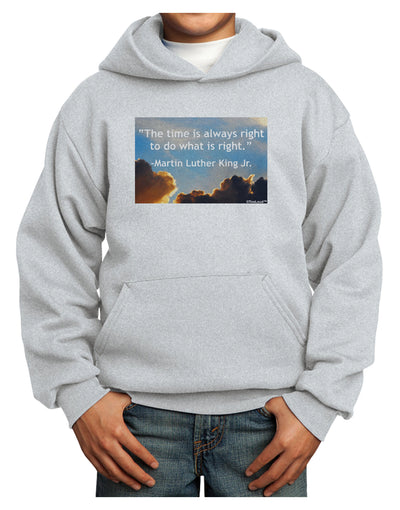 The Time Is Always Right Youth Hoodie Pullover Sweatshirt