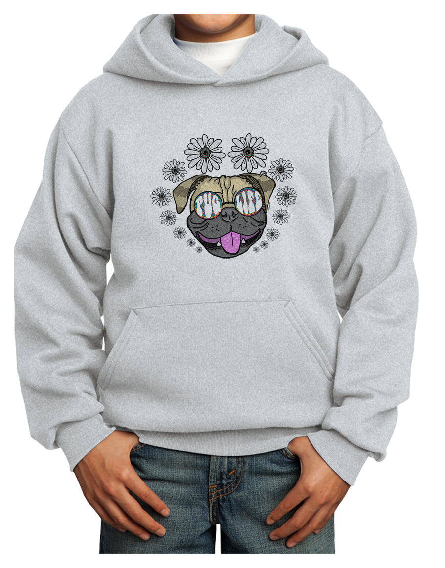 Pug Life Hippy Youth Hoodie White Extra-Large Tooloud