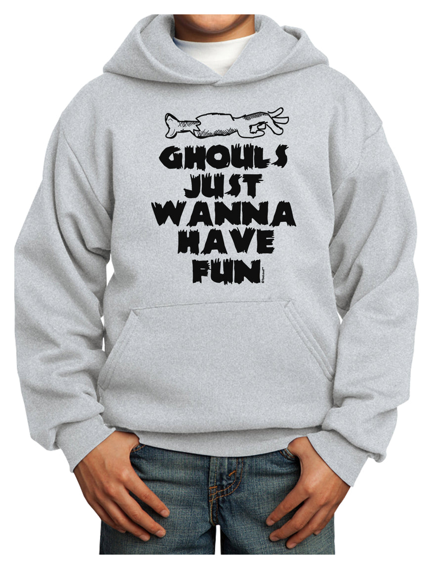 Ghouls Just Wanna Have Fun Youth Hoodie White Extra-Large Tooloud