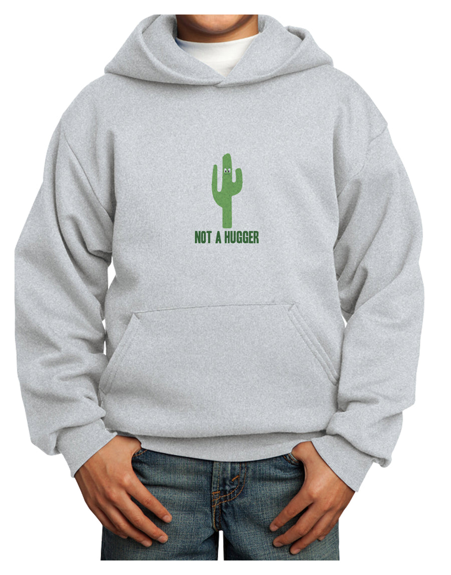 Not a Hugger Youth Hoodie White Extra-Large Tooloud