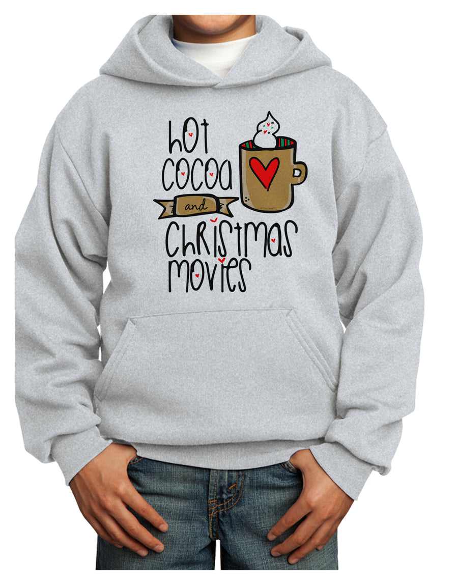Hot Cocoa and Christmas Movies Youth Hoodie White Extra-Large Tooloud