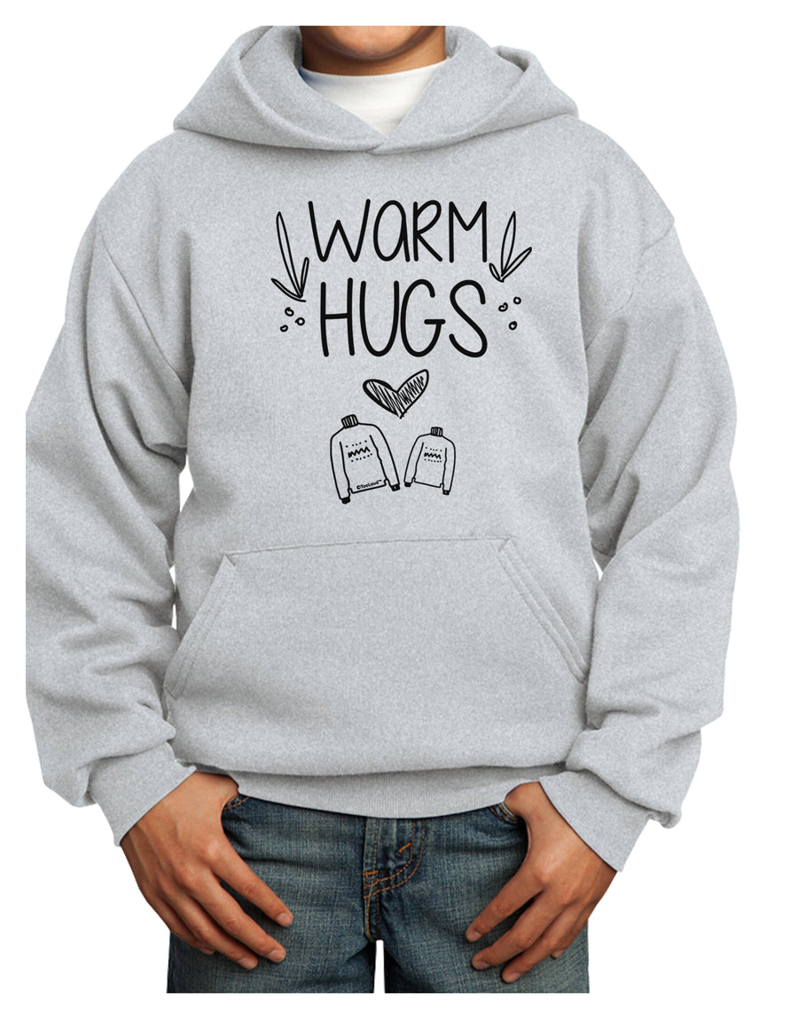 Warm Hugs Youth Hoodie White Extra-Large Tooloud