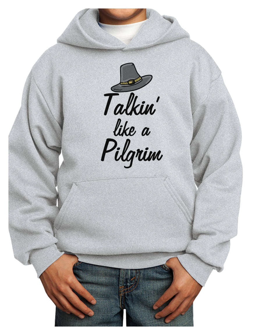 Talkin Like a Pilgrim Youth Hoodie White Extra-Large Tooloud