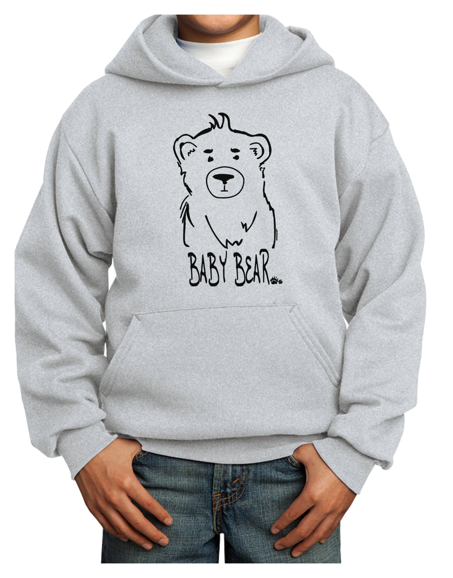Baby Bear Youth Hoodie White Extra-Large Tooloud