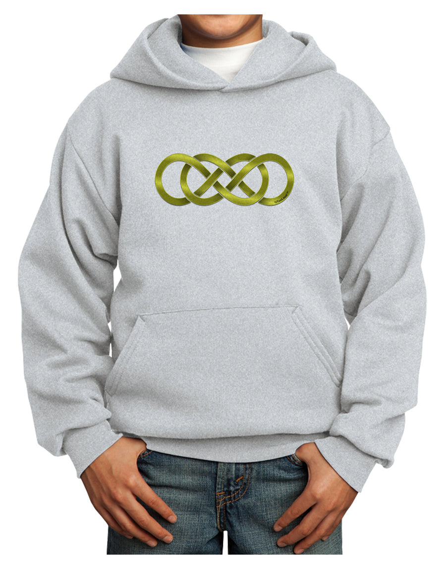 Double Infinity Gold Youth Hoodie Pullover Sweatshirt