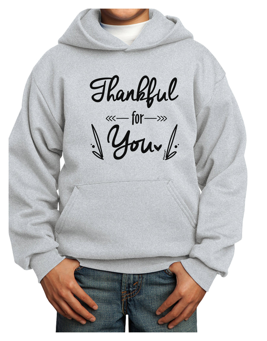 Thankful for you Youth Hoodie White Extra-Large Tooloud