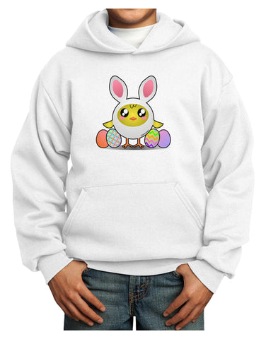Chick In Bunny Costume Youth Hoodie Pullover Sweatshirt
