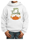 Give Thanks Youth Hoodie White Extra-Large Tooloud