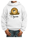 Doge Coins Youth Hoodie White Extra-Large Tooloud